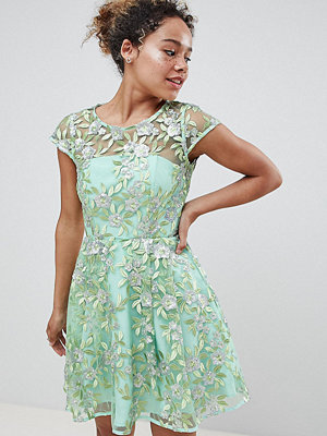ASOS Edition Petite sequin embroidered skater mini dress