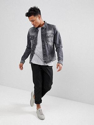 Jeansjackor - Only & Sons Denim Jacket In Washed Grey - Dark grey denim