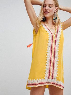 River Island Broidery Trim Tunic Beach Dress