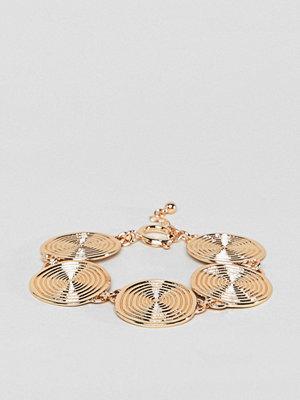 ASOS armband DESIGN Statement Swirl Coin Bracelet