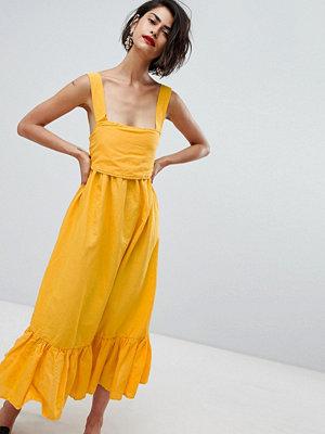 Vero Moda Ruffle Hem Cami Dress With Bow Back