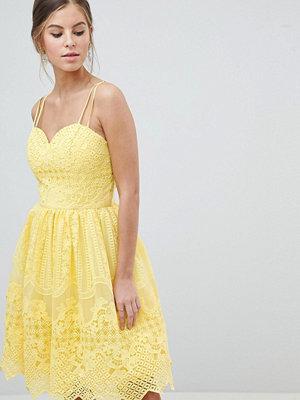 Chi Chi London Cami Strap Mini Prom Dress With Open Back