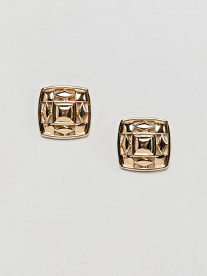 ASOS örhängen DESIGN Chunky Cut Out Square Stud Earrings