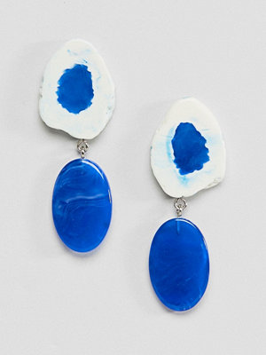 ASOS örhängen DESIGN Rough Shape Marbled Resin Earrings