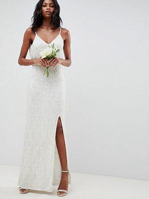 ASOS Edition floral embellished lace wedding dress