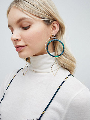 Liars & Lovers örhängen Resin Oversized Hoop Statement Earrings