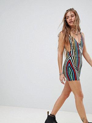 Motel Regnbågsmönstrad bodycon mini-kjol Regnbåge