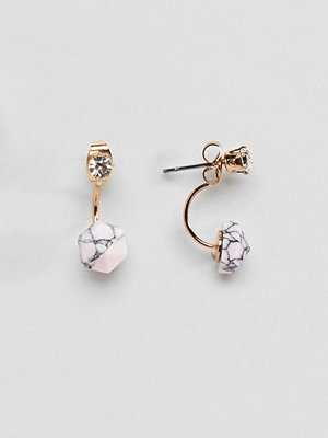 ASOS örhängen DESIGN Marble Swing Earrings In Pink