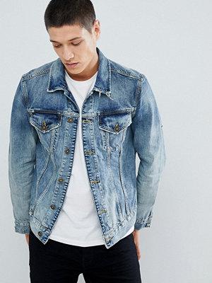 Jeansjackor - AllSaints Denim Jacket In Blue With Distress - Indigo