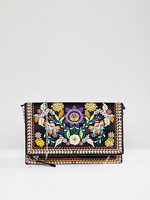 New Look kuvertväska Bright Embroidered Clutch
