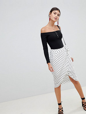 PrettyLittleThing Polka Dot Wrap Skirt