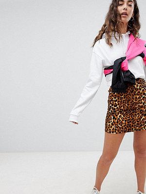 Daisy Street Leopardmönstrad minikjol med hög midja Leopard