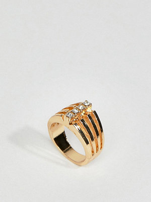 ASOS DESIGN ring in vintage style with triple row