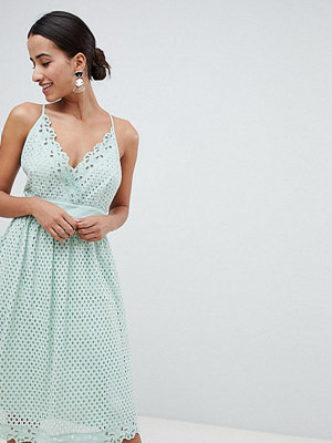 Boohoo Cami Lace Midi Dress - Mint green