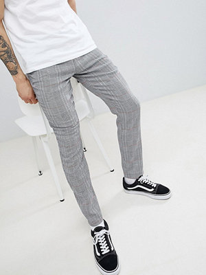 ASOS DESIGN Skinny Trousers In Monochrome Check