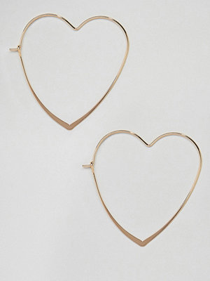 ASOS örhängen Heart Hoop Earrings