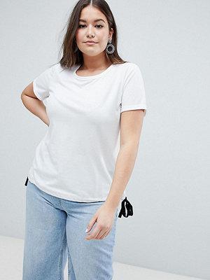 Junarose T-shirt med knytning i sidan