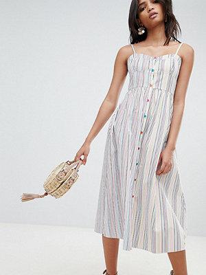 Reclaimed Vintage Inspired Stripe Button Through Sun Dress