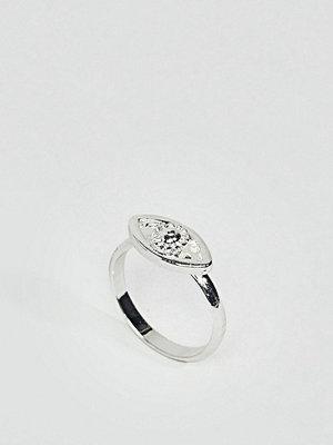 ASOS DESIGN pinky ring with eye detail