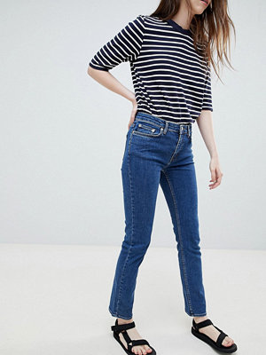 Wood Wood Lou Vintage Straight Cut Jeans - Bluevintag