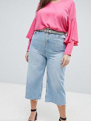 New Look Plus New Look Curve Beskurna jeans med vida ben