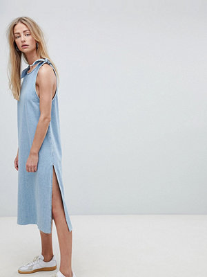 Dr. Denim Maxi Denim Dress with Tie Detail - Worn super light