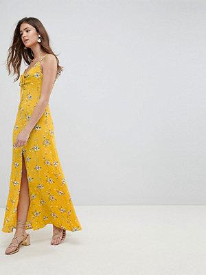 Brave Soul Poppy Maxi Dress - Mustard