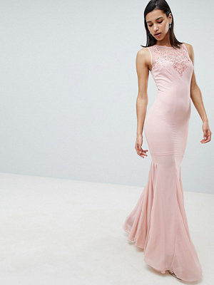 City Goddess Embellihsed Chiffon Maxi Dress