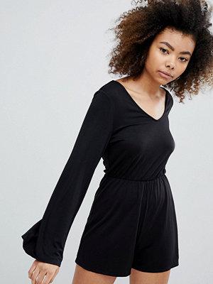 Monki Long Sleeve Playsuit