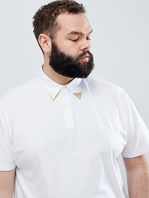 ASOS DESIGN Plus relaxed polo shirt with western collar tips