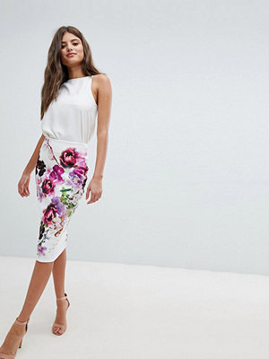 Jessica Wright Floral Pencil Midi Skirt