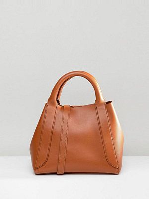 ASOS DESIGN mini tuck side bonded shopper bag