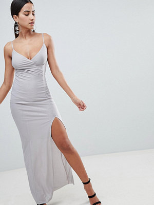 Ax Paris Cami Slip Maxi Dress With Side Split