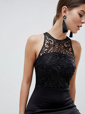 Ax Paris Racerneck Lace Midi Dress