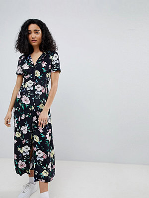 Bershka floral midi shirt dress