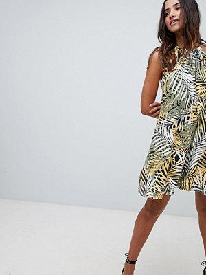 Boohoo Palm Print Swing Dress