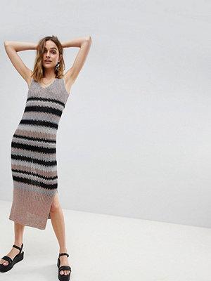River Island Stripe Knitted Cami Dress - Multi