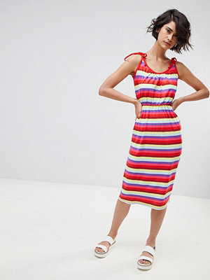 Warehouse Candy Stripe Jersey Midi Dress - Stripe