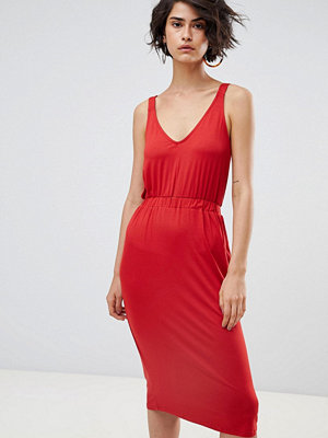 Warehouse Cami Midi Dress - Red