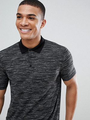 ASOS DESIGN polo shirt with inject fabric