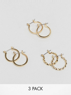ASOS örhängen pack of 3 20mm hoop earrings