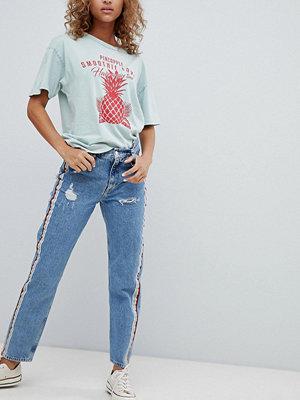 Pull&Bear rainbow side stripe jeans