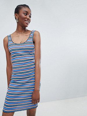 New Look Stripe Bodycon Dress - Blue pattern