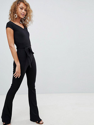 Miss Selfridge Ribbad jumpsuit i smal modell