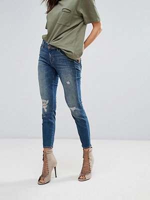 J Brand 9326 Low Rise Destroyed Skinny Jeans - Mischief