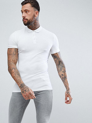 ASOS DESIGN Muscle fit jersey polo