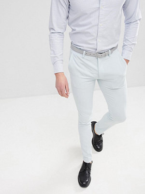 ASOS DESIGN Super Skinny Smart Trousers In Ice Blue