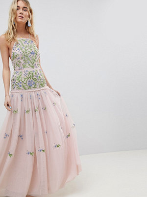ASOS Edition meadow floral embellished maxi dress