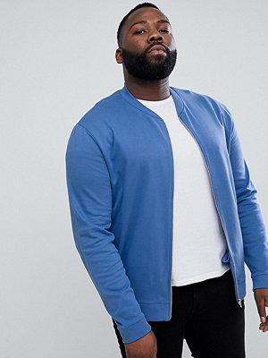 Bomberjackor - ASOS DESIGN Plus Jersey Bomber Jacket In Blue - Dutch blue