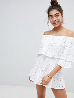 ASOS DESIGN Broderie Playsuit